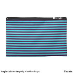 Purple and Blue Stripe Travel Accessories Bag