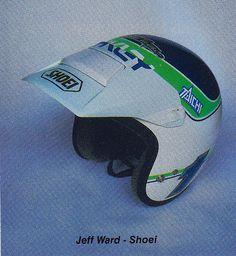 1986 Troy Lee Designs Shoei Helmet of Jeff Ward | Flickr - Photo Sharing!