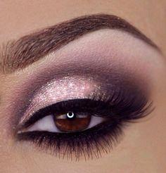 Silver, pink and Black Smokey eyes