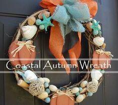 DIY Home Decor: Going Coastal With Fall Decor~ Coastal Fall Wreath...