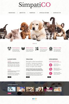 Pets Responsive Bootstrap Website Template
