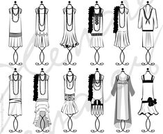 The different styles of flapper dresses in the 1920's