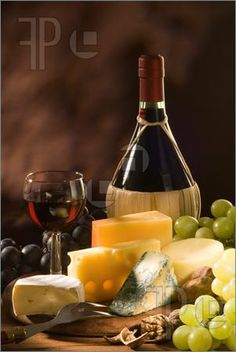 CHEESE, FRUIT,  and WINE:  We should always have a variety of cheese, fruit and wine (Italian Chianti always a good choice)