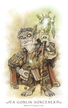 A Goblin Sorcerer... by Jeff Carlisle