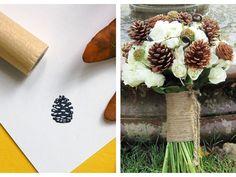 Sweet Violet Bride - http://sweetvioletbride.com/2012/10/pinecone-wedding-inspiration/