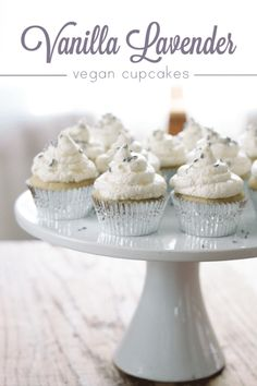 Vanilla Lavender Vegan Cupcakes from Veganivore! An easy vegan dessert for Spring!