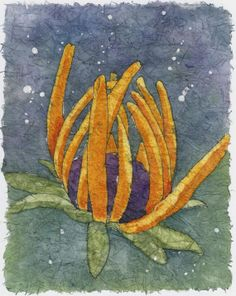 Watercolor Batik on Rice Paper  Early Morning by NatureArtbylynn, $35.00