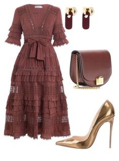Christian Louboutin OFF!>> A fashion look from March 2018 featuring long red dress leather shoes and red hand bags. Browse and shop related looks. Trend Fashion, Look Fashion, Autumn Fashion, Womens Fashion, Fashion Glamour, Fashion Tips, Modest Fashion, Fashion Dresses, Hijab Fashion