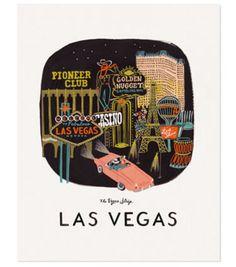 Affiche Las Vegas - Rifle Paper & Co - Illustrations d'Anna Bond