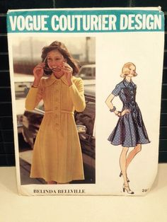 Vtg Vogue Couturier Design Dress Pattern-Belinda Belleville 2820 Size 12-Uncut