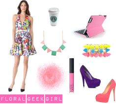 """""""Floral Geek Girl"""" by onlineshoppingusa on Polyvore"""