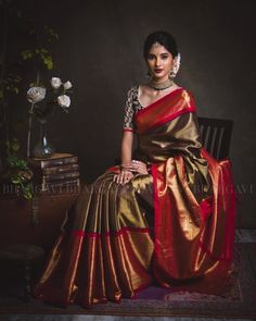 Pose n jewelry Elegant Indian Saris Click above VISIT link for more info Indian Bridal Sarees, Indian Silk Sarees, Bridal Silk Saree, Bridal Lehenga, Indian Dresses, Indian Outfits, Indische Sarees, Kanjivaram Sarees Silk, Wedding Saree Collection