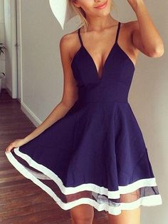 Navy Minimal Embrace Dress