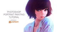 Photoshop Portrait Painting Tutorial by Kuvshinov Ilya