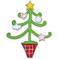 Sizzix Originals Die - Tree, Christmas w/Decorations $15.9