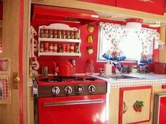 Vintage camper kitchen
