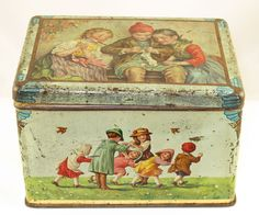 Vintage tin candy box circa 1905, from my personal collection :)