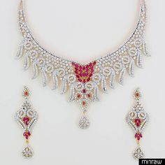 Beautiful cubic zirconia necklace set