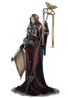 f Cleric LE Robes Staff Scroll hilvl urban City Female Astropath of the Adeptus Astra Telepathica Warhammer 40k Art, Warhammer Fantasy, Space Opera, Cleric, Sci Fi Characters, Rogue Traders, Pop Bands, Character Portraits, Sci Fi Art