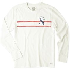 Men's Life is Good USA Stripe Long Sleeve Crusher Tee | Life is Good® Official Site