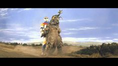 Godzilla beating up Megalon with the help of Jet Jaguar - Japanese science fiction at it's campiest! XD