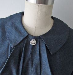 50s Dress // Vintage 1950s Slate Blue New Look by TheVintageStudio, $124.00