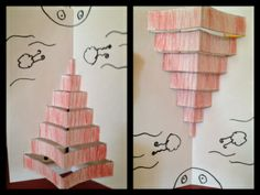 tower of babel - could make this life size using poster board in the corner of classroom