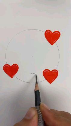 Beautiful Easy Drawings, Art Drawings Sketches Simple, Pencil Art Drawings, Cute Doodle Art, Doodle Art Designs, Broken Drawings, Art Painting Gallery, Cartoon Art Styles, Drawing Challenge