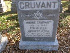 Tombstone of Minnie (Mojsabovski) Cruvant - 2nd Great Grandmother