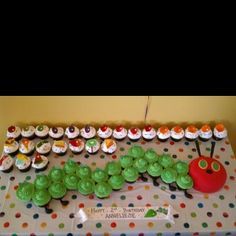 Cake for a Very Hungry Caterpillar theme kid's birthday party