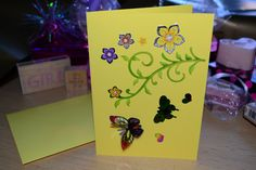 Yellow Friendship Butterfly Card, £2.50