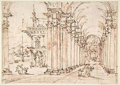 Francesco Guardi (Italian, 1712). Architectural Capriccio: Vaulted Colonnade of a Palace, 1712-93. The Metropolitan Museum of Art, New York. Rogers Fund, 1937 (37.165.88)