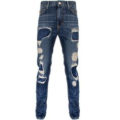 Vivienne Westwood Anglomania Classic Tapered Jeans ($127) ❤ liked on Polyvore featuring men's fashion, men's clothing, men's jeans, men, mens torn jeans, mens tapered jeans, mens tapered leg jeans, mens slim fit jeans and mens jeans