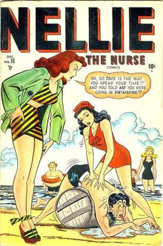 There's a comic book named after me? And I'm a hot red headed nurse? #weird.