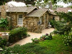 After 20 years in Carmel, I am still enchanted by the architecture. Hugh Comstock, inspired by the Fairytale Illustrations of Arthur Rackham, is credited with starting the Fairytale Cottage style i… Fairytale Cottage, Storybook Cottage, Old Cottage, Cottage Living, Cottage Homes, Garden Gates And Fencing, English Cottage Style, Historic Homes, Cozy House