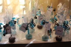 Cute cake pop 80th birthday favors