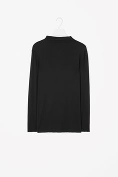 COS image 4 of Raised-neck cotton top in Black