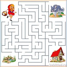 Mazes For Kids Printable, Maze Worksheet, Pencil Grip, Numbers Preschool, Beautiful Nature Wallpaper, Red Riding Hood, Drawing For Kids, Kids Learning, Activities For Kids