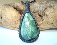 Seraphinite Teardrop Pendant - Angels of the Presence