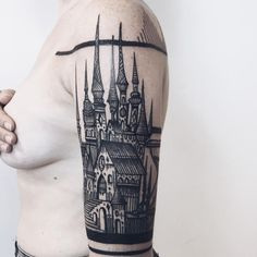 35 Of The Best Architecture Tattoos Or How To Have Your World On A Sleeve - by Grandmaster Thieves of Tower