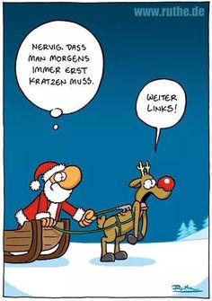 Gut, das auch Santa dieses Problem hat