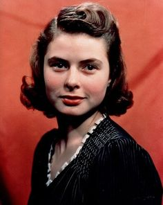 Ingrid Bergman as a teen