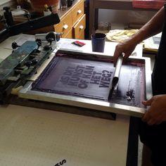 silkscreen printed bags for #kunsttourmaastricht