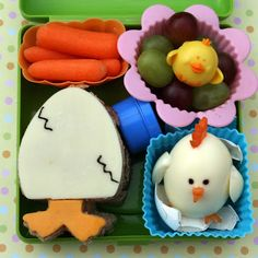 Cute idea for a kids lunch box for spring or easter