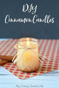 Making your own DIY cinnamon candles is easier than you might think! It's a relaxing and delightful DIY fall project that anyone will enjoy!