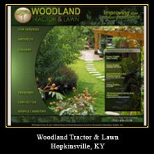 My Web Design Clients: Woodland Tractor & Lawn. Hopkinsville, Kentucky.
