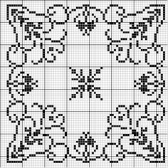 F i l e t*****Inspirações de Croche com Any Lucy: Square