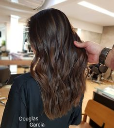 Long Dark Brown Shag with Textured Bangs - 20 Stunning Long Dark Brown Hair Cuts and Styles - The Trending Hairstyle Brown Hair Cuts, Brown Hair Looks, Brown Hair Shades, Light Brown Hair, Hair Color For Black Hair, Dark Hair, Brown Hair Balayage, Brown Hair With Highlights, Ombre Hair