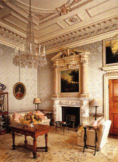 Ditchley Park - Drawing Room. Book: Early Georgian Interiors by John Cornforth