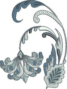 Pat Williams Embroidery Design: Royalty Fleur De Lis Floral 4.96 inches H x 3.78 inches W